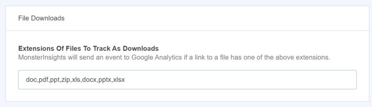 file downloads monsterinsights