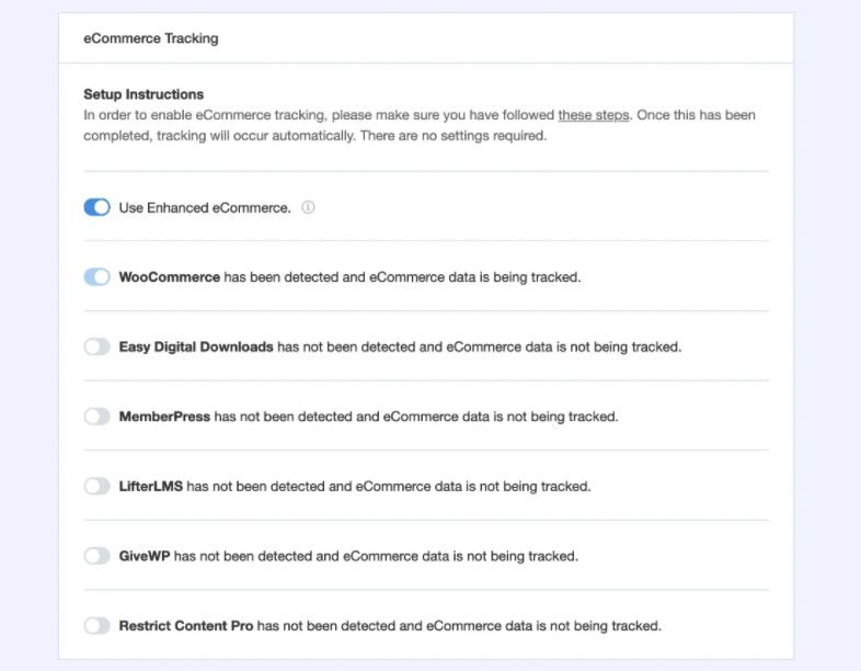 ecommerce integrations monsterinsights