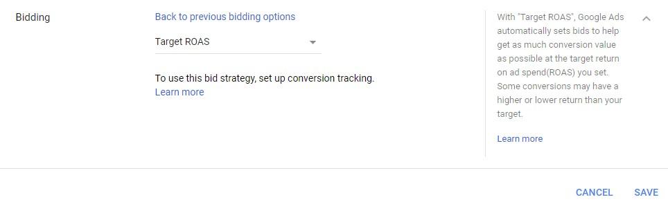 Google Ads Target ROAS