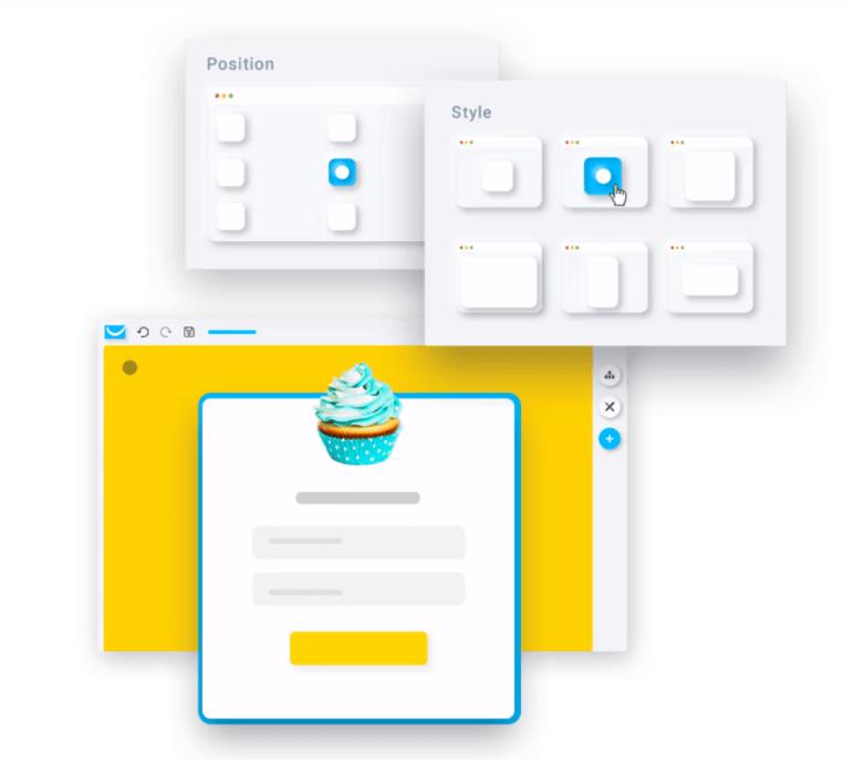 getresponse website builder popups