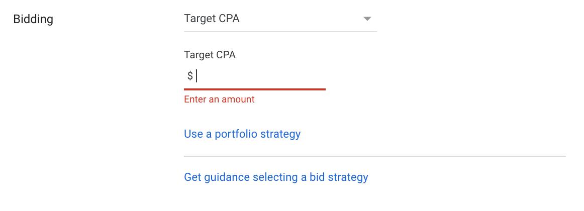 google ads Target Impression Share