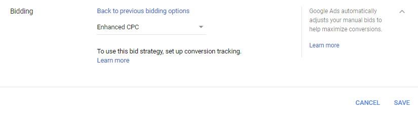 google ads enhanced CPC