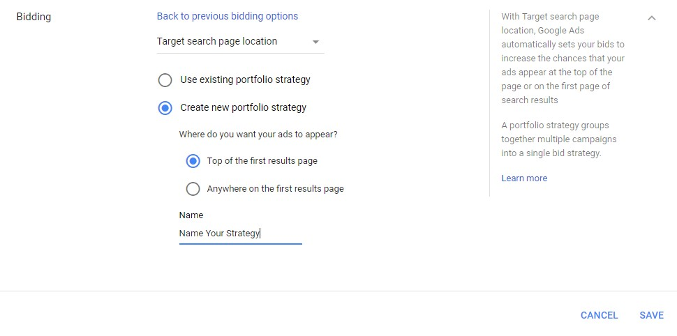 google ads targeted ads search location