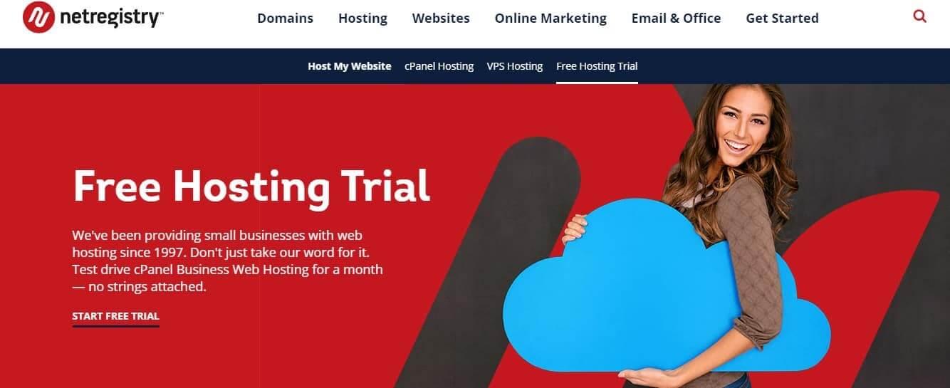 Netregistry web hosting free trial