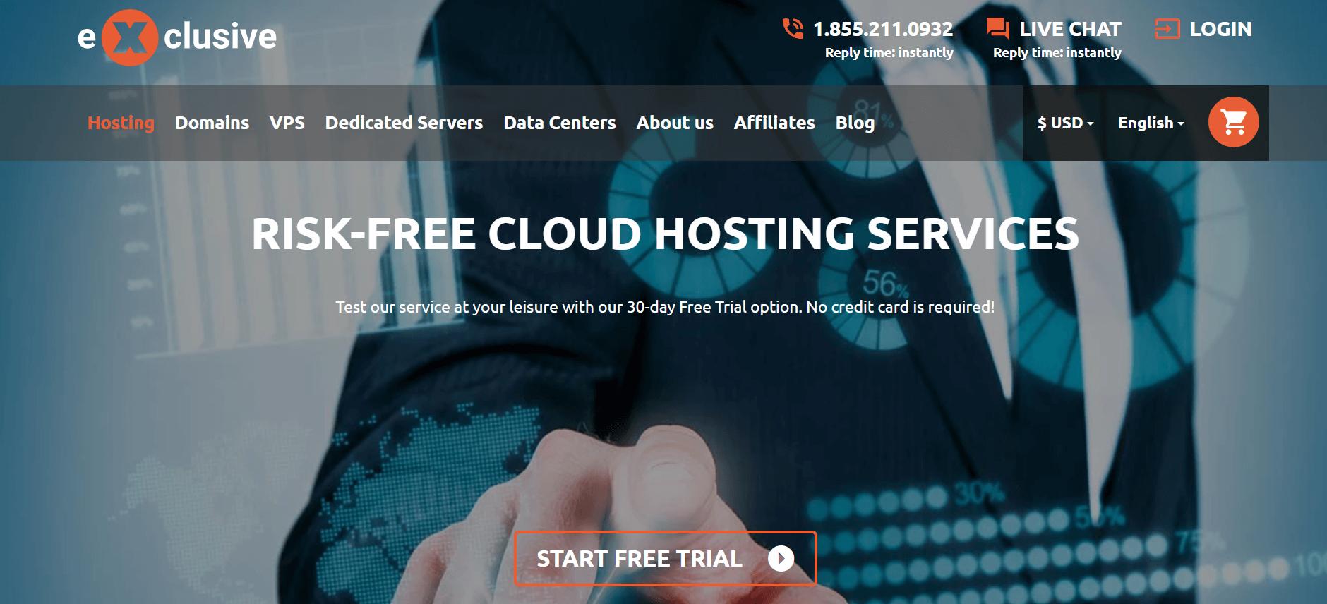 exclusive web hosting free trial