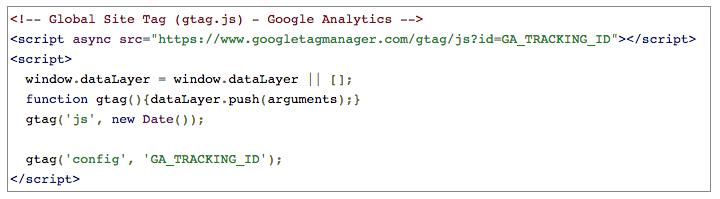 google analytics script