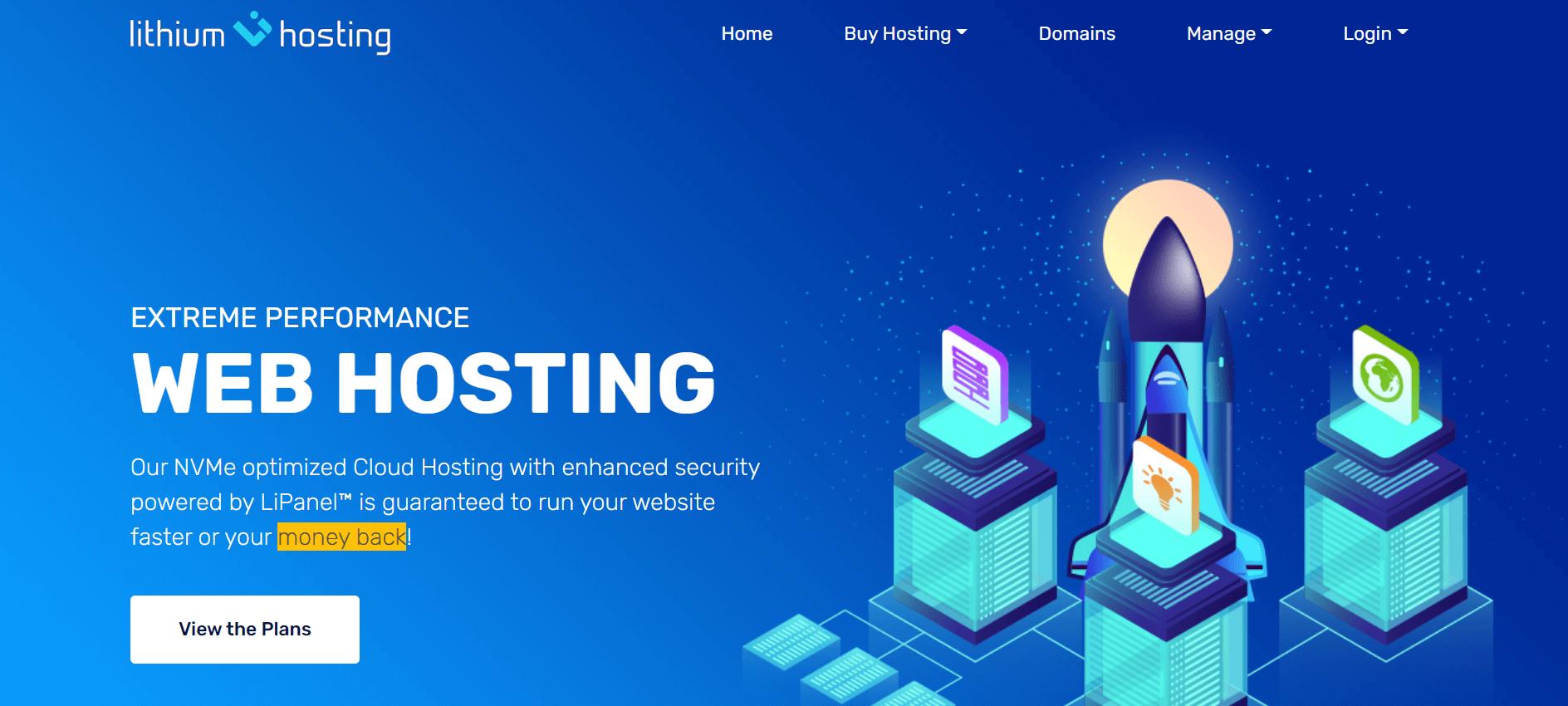 lithium hosting free trial