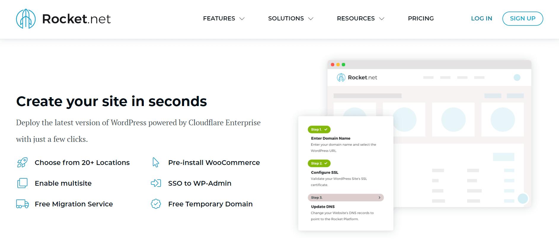 rocket.net wordpress managed hosting